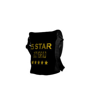 Funny Cool 60th Birthdays Five Star Sixty Year Old Courier Bags