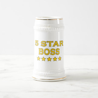 Funny Cool Bosses : Five Star Boss Beer Stein