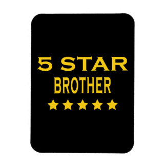 Funny Cool Brothers : Five Star Brother Rectangular Photo Magnet
