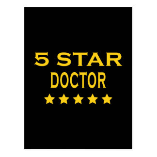 Funny Cool Doctors : Five Star Doctor Post Card