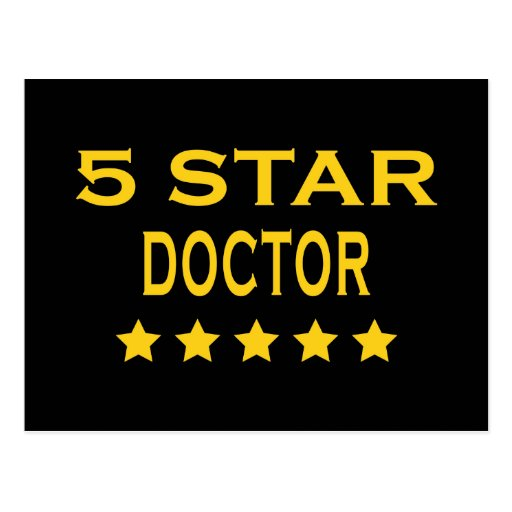 Funny Cool Doctors : Five Star Doctor Postcard