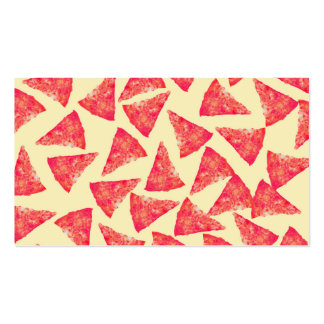Funny Cool Funky Pizza Pattern Double-Sided Standard Business Cards (Pack Of 100)