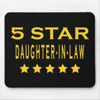 Funny Cool Gifts : Five Star Daughter in Law Mouse Pad