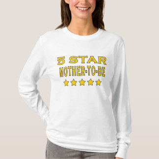 Funny Cool Gifts : Five Star Mother to Be T-Shirt