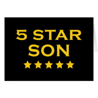 Funny Cool Gifts Five Star Son Greeting Card
