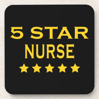 Funny Cool Nurses Five Star Nurse Beverage Coasters