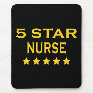 Funny Cool Nurses : Five Star Nurse Mouse Pad