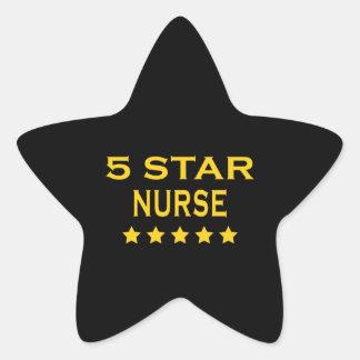 Funny Cool Nurses : Five Star Nurse Star Sticker