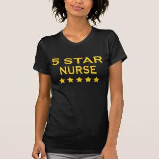 Funny Cool Nurses Five Star Nurse T-shirt