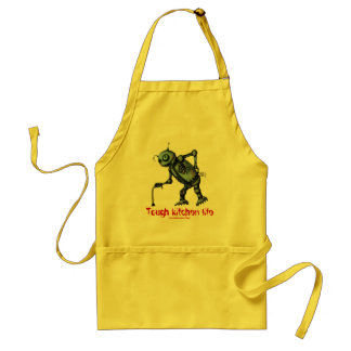 Funny cool old kitchen robot apron design