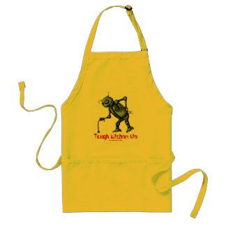 Funny cool old kitchen robot apron design