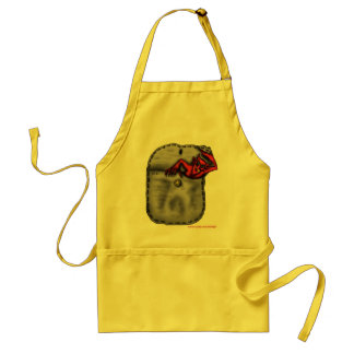 Funny cool red devil in the pocket apron design