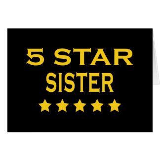 Funny Cool Sisters : Five Star Sister Card