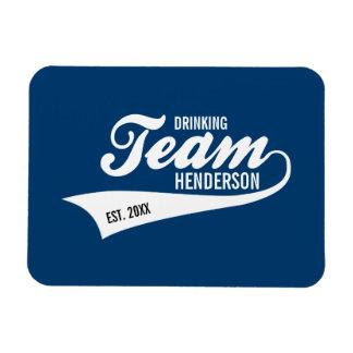 Funny Cool Sports Team Logo Your Custom Team Name Rectangular Photo Magnet