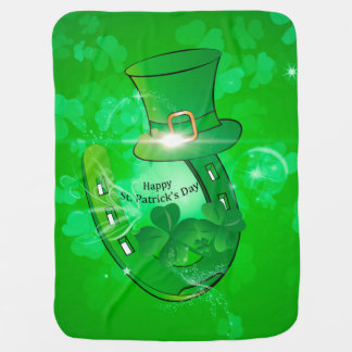 Funny, cool St. Patrick's Day hat Baby Blanket