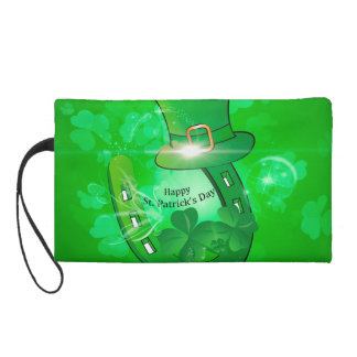 Funny, cool St. Patrick's Day hat Wristlet