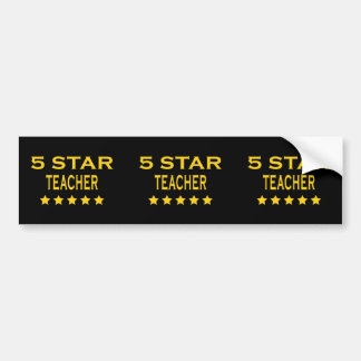 Funny Cool Teachers : Five Star Teacher Bumper Sticker