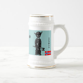 Funny cool viking for beer Norway mug design