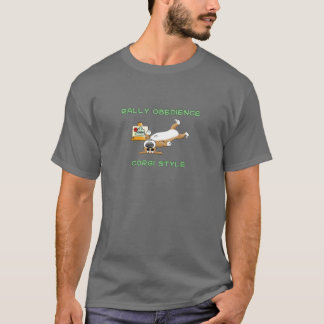 Funny Corgi Rally-o Cartoon T-Shirt
