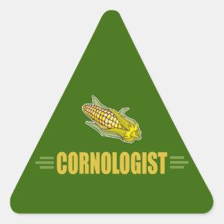 Funny Corn Triangle Sticker