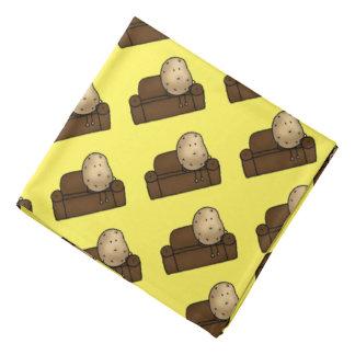 funny couch potato cartoon head kerchiefs