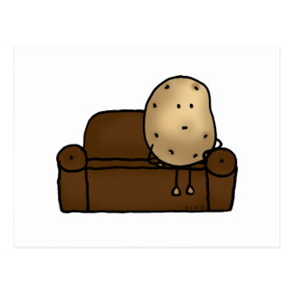 Funny couch potato postcard