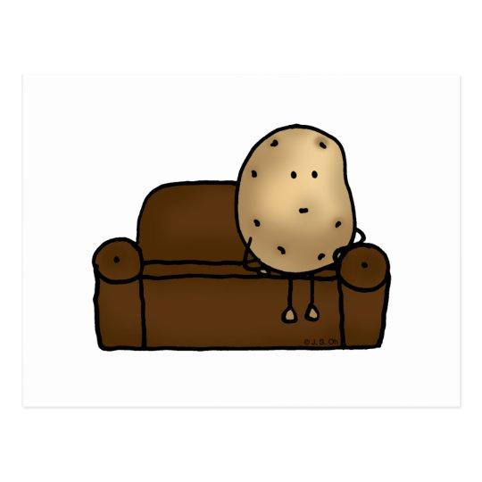 Funny couch potato postcard