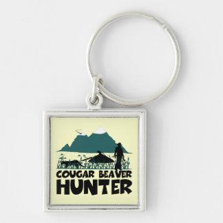 Funny cougar key ring