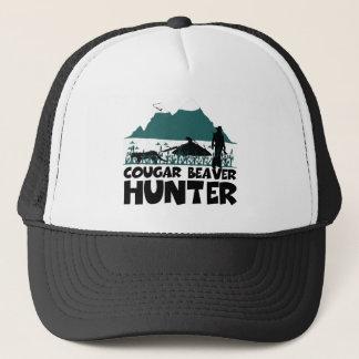 Funny cougar trucker hat
