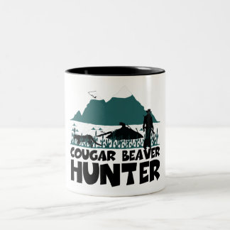 Funny cougar Two-Tone coffee mug