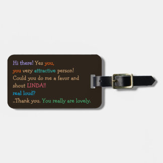 Funny Could You Shout My Name Personalized Custom Luggage Tag