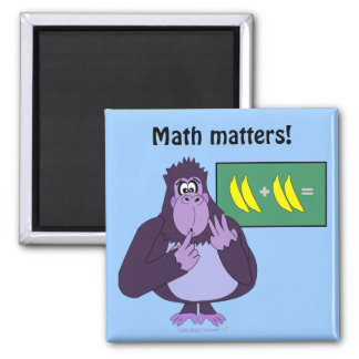 Funny Counting Gorilla Math Custom Magnet