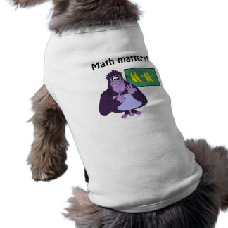 Funny Counting Gorilla Math Custom Sleeveless Dog Shirt