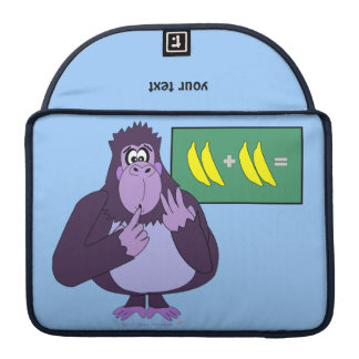 Funny Counting Gorilla Math Custom Sleeves For MacBooks