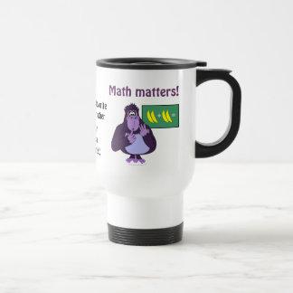 Funny Counting Gorilla Math Custom Stainless Steel Travel Mug