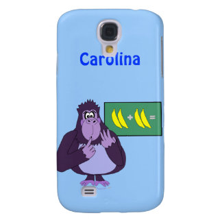 Funny Counting Gorilla Maths Custom Name Galaxy S4 Case