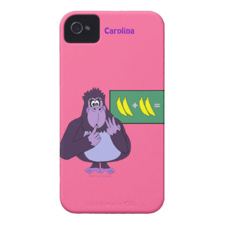 Funny Counting Gorilla Maths Custom Name iPhone 4 Case-Mate Cases