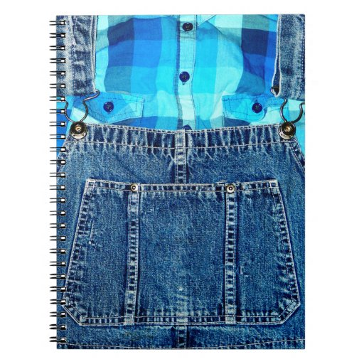 Funny Country Bumpkin Jean Overalls Notebook