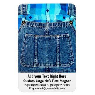Funny Country Bumpkin Jean Overalls Magnet