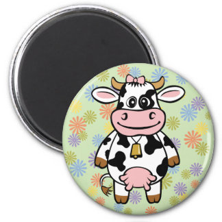 Funny Cow 6 Cm Round Magnet