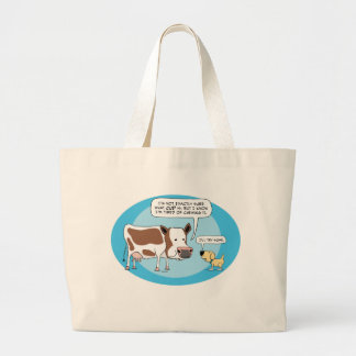 Funny Cow and Dog Tote Bag