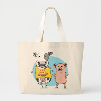 Funny Cow and Pig Awkward Moment Tote Bag