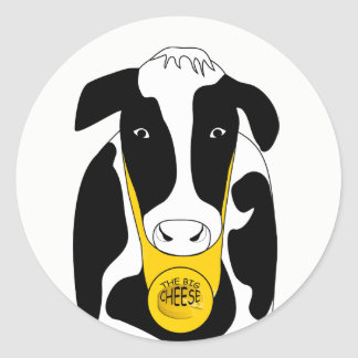 Funny Cow Big Cheese Boss Sticker