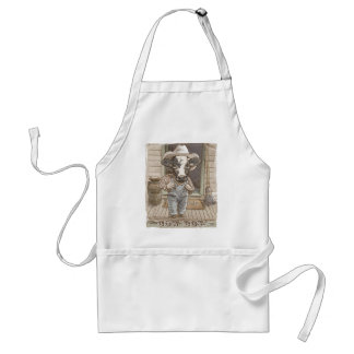 Funny Cow Boy by Mudge Studios Aprons