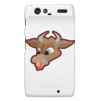 Funny cow cartoon character droid RAZR cases