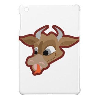 Funny cow cartoon character iPad mini cases