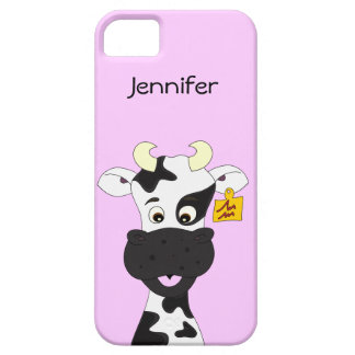 Funny cow cartoon girls barely there iPhone 5 case