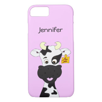 Funny cow cartoon girls iPhone 7 case