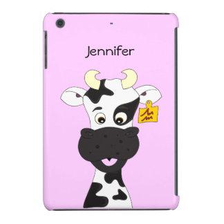 Funny cow cartoon iPad mini cases
