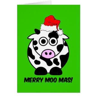 Funny cow Christmas Cards